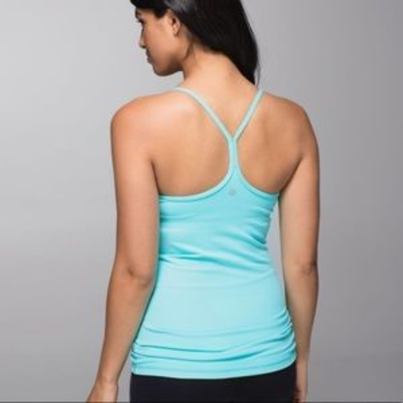8121ca67081d3e NWT Lululemon Power Y Tank Spy Blue 4 SYBL